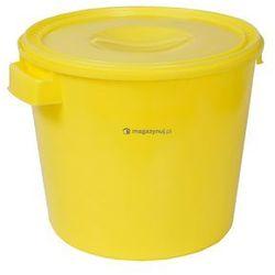 Okrągły pojemnik plastikowy z pokrywą 30l (Kolor: żółty)