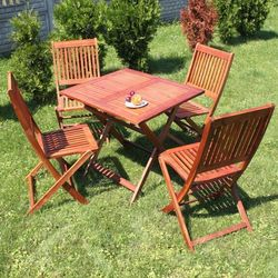 Meble Ogrodowe TOSKANIA Zestaw mebli Stół + Krzesła 4szt