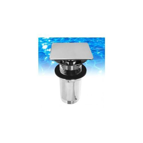 Korek klik-klak Omnires do syfonu umywalkowego, wzór kwadratowy płaski - chrom Q706