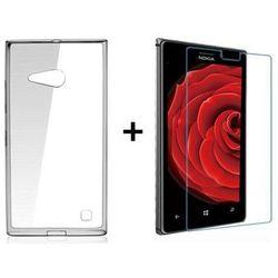 Zestaw Obudowa Ultra Slim Przezroczysta + Szkło ochronne Perfect Glass Nokia Lumia 730 / 735