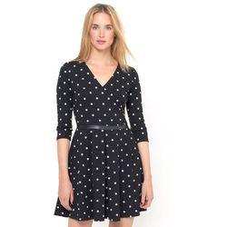 Sukienka w groszki, z dzianiny milano stretch