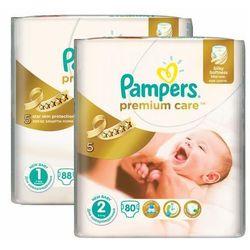 Pampers Premium Care roz. 1 i 2 168szt. zapas na miesiąc