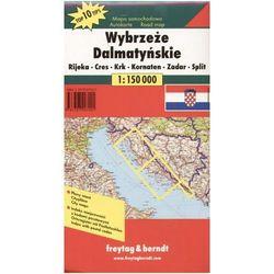 Wybrzeże Dalmatyńskie. Mapa samochodowa
