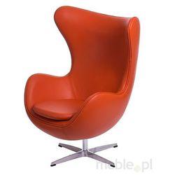 Fotel Jajo pomarańczowa skóra #67