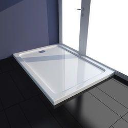 vidaXL Brodzik prysznicowy prostokątny ABS biały 70 x 100 cm Darmowa wysyłka i zwroty