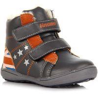 HASBY 1605A szare buty dziecięce kozaczki zimowe - szary
