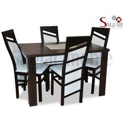 Zestaw KAMA IV 4 krzesła i stół 80x120/160