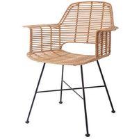 HK Living Krzesło rattanowe TUB naturalne RAT0040