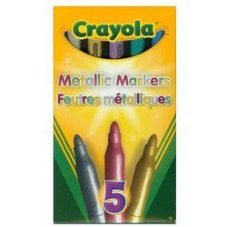 Flamastry Crayola metaliczne 5 sztuk