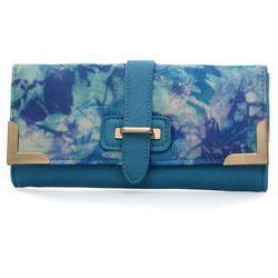 NiebieskI ZESTAW torebka, portfel, pasek z nadrukiem BLUE - niebieski ||kolorowy