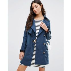 Cooper & Stollbrand Asymmetric Trench Coat In Navy - Navy