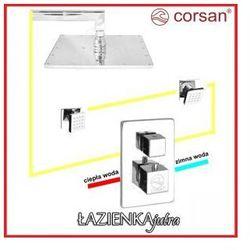 CORSAN Zestaw podtynkowy z termostatem, chrom CM-01T_25H