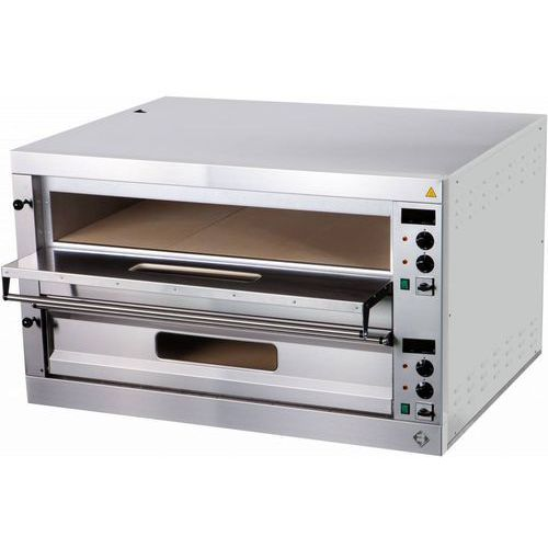 Piec do pizzy dwukomorowy | 24000W | 1310x1270x(H)760mm