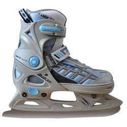Łyżwy figurowe regulowane AXER SPORT A2962 Blue Ice (rozmiar 29 - 32) + DARMOWY TRANSPORT!
