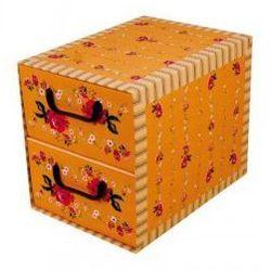 Pudełko kartonowe 2 szuflady pionowe PROWANSALSKIE-POMARAŃCZOWE