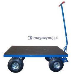 Wózek platformowy. Platforma ze sklejki z siatką antypoślizgową. Wym. 1000x2000mm (Koła: Pneumatyczne)