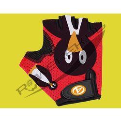 07-130870 Rękawiczki kolarskie AUTHOR JUNIOR Pinguin dziecięce czerwono-czarne S
