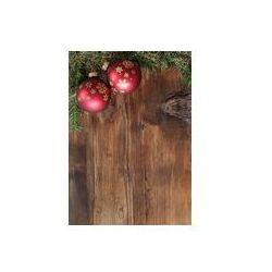 Foto naklejka samoprzylepna 100 x 100 cm - Czerwone kulki z sosnowych gałęzi