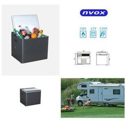 NVOX Lodówka samochodowa 35l, Agregat, Termostat, 12V 230V GAZ