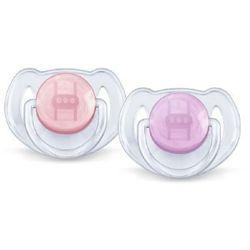 AVENT/PHILIPS Smoczek uspokajający z silikonu 6-18m SCF 170/22, 0% BPA, kolor czerwony