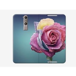 Flex Book Fantastic - ZTE Axon Mini - pokrowiec na telefon - flower