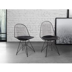 Krzeslo czarne - do jadalni - do kuchni - chromowane - MULBERRY