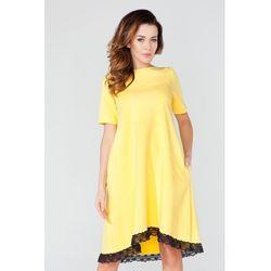 Żółta Sukienka w Kształcie Litery