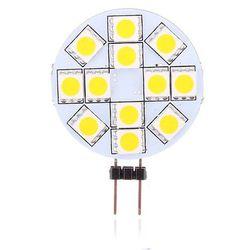 Żarówka WHITENERGY LED 12SMD 5050 G4 1.7W 12V.Zimna Biała