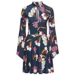 fd01591e26 suknie sukienki sukienka dla dziewczynki w niebieskie kwiaty ...