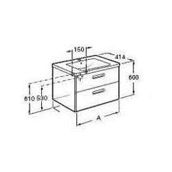 ROCA Gap Unik szafka z szufladami biała + umywalka 80 A855712576