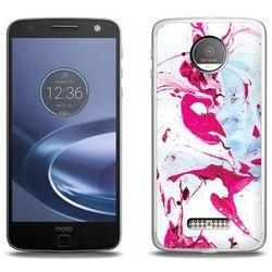 Fantastic Case - Lenovo Moto Z Force - etui na telefon Fantastic Case - różowy marmur