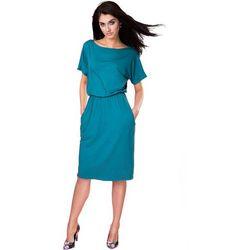 Sukienka uniwersalna z kieszeniami turkusowa