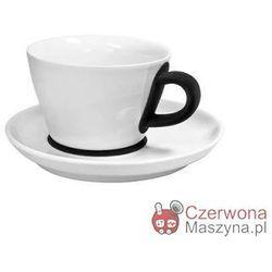 Filiżanka do cappuccino ze spodkiem Kahla touch! FIVE SENSES black 250 ml