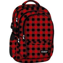 Plecak szkolny 4 komory Street Chequered Pattern 8 + zakładka do książki GRATIS