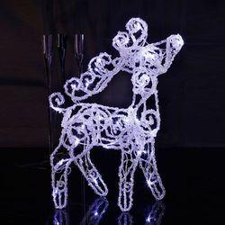 CRYSTAL DEER - Renifer świecący LED Wys.45cm