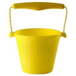 Scrunch-bucket, Zwijane wiaderko silikonowe, Żółte