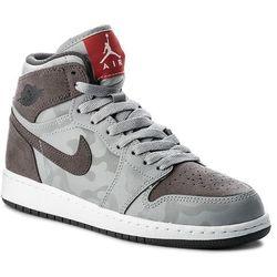 ceny odprawy najwyższa jakość Hurt Buty NIKE - Air Jordan 1 Retro Hi Prem Bg 822858 027 Wolf Grey/Dark  Grey/White
