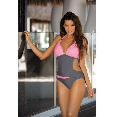 66353ad3d63576 Jednoczęściowy strój kąpielowy Kostium Kąpielowy Model Beatrix Ardesia-Hollywood  M-337 Pink/Grey - Marko