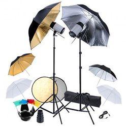 Zestaw studio: 2 lampy, 6 parasolek i blenda 2w1 Zapisz się do naszego Newslettera i odbierz voucher 20 PLN na zakupy w VidaXL!