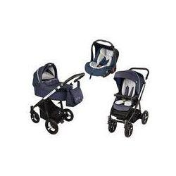 Wózek wielofunkcyjny 3w1 Lupo Husky + Leo Baby Design (granatowy 2016)