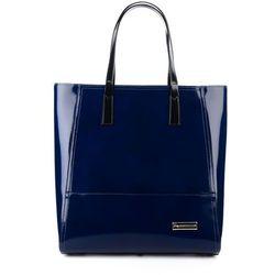 Klasyczna skórzana shopper bag