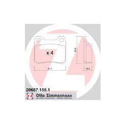 ZIMMERMANN Zestaw klocków hamulcowych, hamulce tarczowe - 20687.155.1