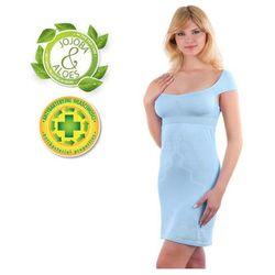Babyono - Koszulka nocna dla matek karmiących - błękitna - S