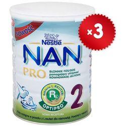 Zestaw 3x NESTLE NAN PRO 2 800g Mleko następne z L.Reuteri dla dzieci