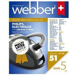 Worki papierowe WEBBER Uni Bag do Philips/Electrolux