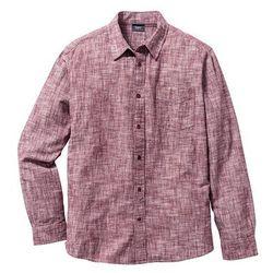 Koszula flanelowa Regular Fit bonprix czerwony klonowy melanż