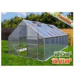 Szklarnia ogrodowa 10,75 m kw. 250 x 430 - szklarnie aluminium + poliwęglan UV