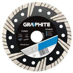 Tarcza diamentowa GRAPHITE 230 22.2 mm. turbo