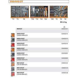 WÓZEK NARZĘDZIOWY 2400/C24S6 Z ZESTAWEM NARZĘDZI, 99 ELEMENTY, MODEL 2400S6-R/VG2T, CZERWONY