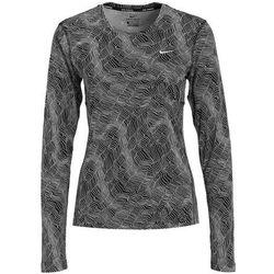 Nike Performance DRY MILER Bluzka z długim rękawem black/reflective silver